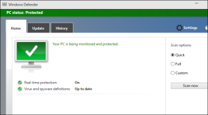 Configure Windows Defender and Firewall for Windows 10