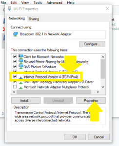 Under Networking tab