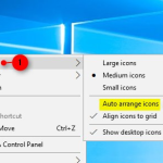 Turn On or Off Auto Arrange in Windows 10