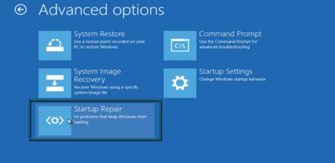 how to start windows auto repair from a boot loop