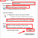 How to Clean Up Recent History in File Explorer