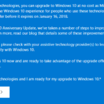 Free Upgrade Windows 10 Extended to 16 January