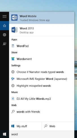 Search for anything, anywhere Windows