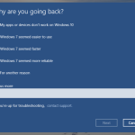 Uninstall Windows 10 to Back Windows 7 or Windows 8.1