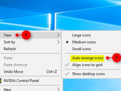 Turn On or Off Auto Arrange icons in Windows 10 using Context Menu