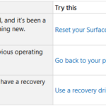 How to Restore or Reset Surface